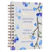 1 : Serenity Courage Wisdom : Large wirebound journal