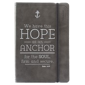 1 : Hope as an Anchor - Dark Grey : Flexcover journal with elastic closure