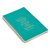 1 : Serenity prayer - 160 lined pages : LuxLeather journal - 149 x 214 mm