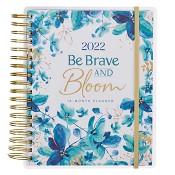 1 : 2022 Be Brave and Bloom : 18 Month Planner 2022 Wirebound