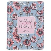 1 : 2022 Grace Upon GraceFloral Faux Leather : 2022 18-month Planner For Women