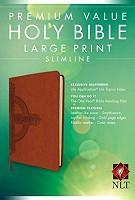 1 : Slimline Bible - Large Print -Brown : Bible - NLT