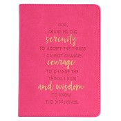 1 : Serenity Courage and Wisdom : LuxLeather journal - 125 x 175 mm