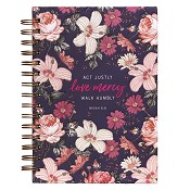 1 : Act justly Love mercy walk humbly : Large wirebound journal