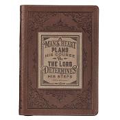 1 : A man's heart - Proverbs 16:9 : LuxLeather journal - 160 x 222 mm