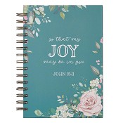 1 : So that my joy may be in you -John 15:11 : Large wirebound journal - 21 x 16 cm
