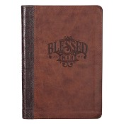 1 : Blessed : LuxLeather journal - with zipper