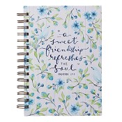1 : A sweet frienship refreshes the soul : Large wirebound journal - 212 x 163 mm