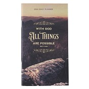 1 : 2022 All Things Are Possible - Mat 19:26 : 2022 Small daily planner - 24 months