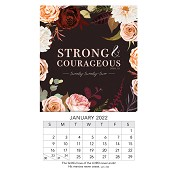 1 : 2022 Strong & Courageous - Joshua 1:9 : 2022 Mini magnetic calendar - 9 x 15 cm