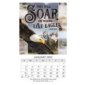 1 : 2022 Soar- Isaiah 40:31 : 2022 Mini magnetic calendar - 9 x 15 cm
