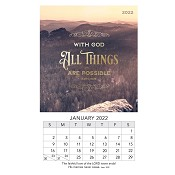 1 : 2022 All Things Are Possible : 2022 Mini magnetic calendar - 9 x 15 cm