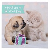 1 : 2022 A Friend Loves At All Times Ps17:17 : 2022 Large wall calendar - 25 x25 cm