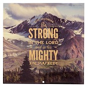 1 : 2022 Be Strong In The LORD - Eph 6:10 : 2022 Large wall calendar - 25 x25 cm