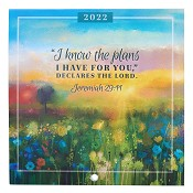 1 : 2022 I Know The Plans - Jeremiah 29:11 : 2022 Small wall calendar - 14 x14 cm