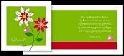 Adaja cards jarig bloem [ 6 stuks ]