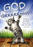 Poster 50x70 God is groot : Sörensen, David