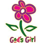 Christelijke T-shirt bedrukking : God`s Girl Adult : Bedrukking Dwl 30X25Cm