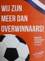 Poster WK voetbal meer dan overwinnaars : Voetbal poster