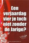 kerstKaart Visje 'Een verjaardag vier je toch ok niet zonder de jarige?'