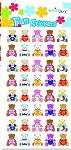 Fun stickers little teddies set4